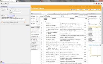 Scholarometer for Google Chrome TM