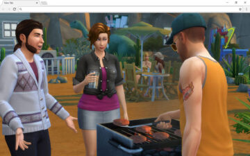 Sims 4 Backgrounds & New Tab