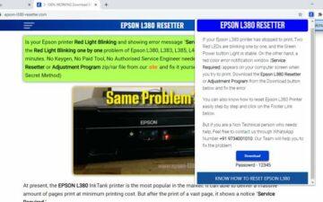 EPSON L380 RESETTER
