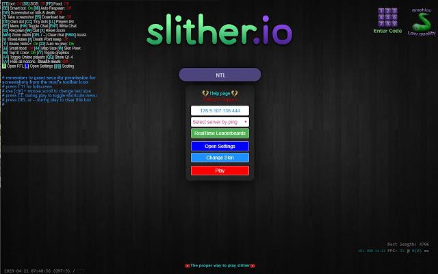 Google Chrome Slither Io