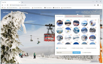 Winter Ski Resort Wallpapers HD Custom NewTab