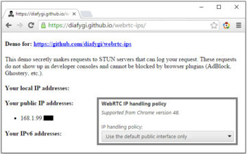 WebRTC Leak Prevent Toggle