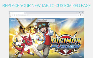 Digimon Wallpapers HD New Tab - freeaddon.com