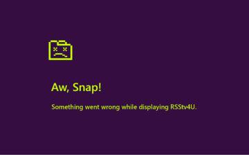 Oh No RSStv4U crashed
